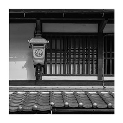 Light by a window (Tim Ravenscroft) Tags: machiya shop front detail lamp monochrome blackandwhite architecture yagahama japan