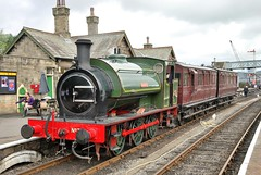 Beatrice shortly after arrival at Embsay (Alun EH) Tags: railways railway railroad embsayboltonabbeysteamrailway ydr yorkshiredalesrailway beatrice hunslet 2705 ncb nationalcoalboard