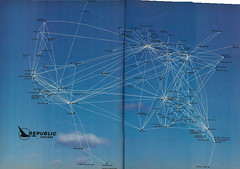 Republic Airlines route map, 1983 (airbus777) Tags: republicairlines routemap network diagram 1983