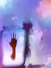 BlueberryJam_Hand in Jar_MyDisembodiedLyfe_FearKat_2016 (fearkat) Tags: jar glass surreal texture hands blue