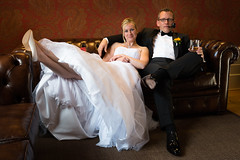 Getting married is so relaxing (Markus Trienke) Tags: wedding bride indoor canon eos 70d couple love fashion beautiful dress black white hair people glamour pretty relaxed marriage
