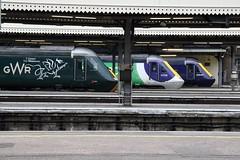 HST's at London Paddington (Paul Emma) Tags: uk england london railway railroad train londonpaddington paddington hst dieseltrain 43162 43188 43126 43040