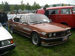 Alpina BMW 7er E23 (911gt2rs) Tags: event treffen meeting show youngtimer tuning b9 735i bimmer braun brown spoiler