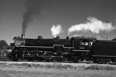 Summerville Steam Special (Howell Weathers) Tags: summervillesteamspecial steamengine steam engine tennesseevalleyrailroad tennvalleyrr tvrr 4501 282 mikado blackandwhite monochrome blackwhite
