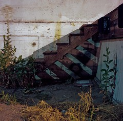 Night, steps (ADMurr) Tags: la night eastside shadow treads rolleiflex kodak ektar zeiss planar