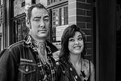 Don't ask (johnjackson808) Tags: daviest fujifilmxt1 theelbowroom vancouver bw blackandwhite monochrome people piercings streetphotography tattoos