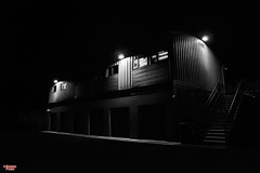 Behind the Station (MBates Foto) Tags: amtrac spokanestation availablelight blackandwhite black white filmnoir monochrome spokane washington nikon nikond810 nikon24120mm outdoors nightimage afterdark streetscene urban unitedstates 99201