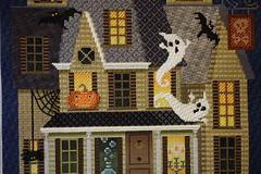 November 2 2016, Wednesday (interchangeableparts) Tags: projectworkbench mfboo halloweenstitching kirkbradley hauntedhouse needlepoint