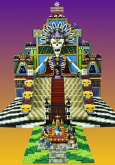 LEGO Day of the Dead (Brickbaron) Tags: mexican skulls mayan heatherbraaten sugarskulls bookoflife landoftheremembered sealug brickcon 2016 patterns bones diademuertos