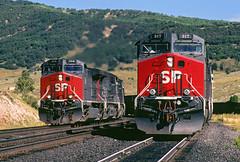 Espee GEs (Moffat Road) Tags: southernpacific sp espee ge ac4400cw newlocomotives coaltrain summit soldiersummit utah train railroad locomotive formerriogrande ut