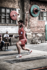 Conquistar el Mundo (Conquer the World) (Dibus y Deabus) Tags: hdr gijon asturias espaa spain halterofilia weightlifting deporte sport jerk revillagigedo rgcc tamron canon 6d