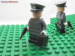 LEGO German WWII General (dmikeyb) Tags: lego german wwii war minifig minifigure custom soldier weapon uniform luftwaffe recon sniper panzer panzerfaust general officer