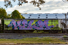 (o texano) Tags: houston texas graffiti trains freights bench benching helm wholecar wh
