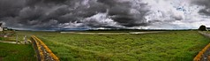 Stormy weather (~ Jessy Simon ~) Tags: nikon d5000 nikkor 18105 nature naturelovers panorama scape landscape waterscape land grass green sky ciel nuage stormy storm weather cloud clouds grey