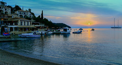 Harbour View ( Sunset - Sivota Harbour - Greece)  (Canon EOS 7D & EF-S 17-55mm f2.8 Zoom) (1 of 1) (markdbaynham) Tags: sivota harbour greece grecia greka hellas hellenic sunset colour sky sea clouds gr canon canonite canonites eos 7d apsc dslr efs 1755mm f28 zoom