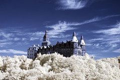 Ksi Castle in Infrared (Kamil Pluta photography) Tags: castles palaces manorhouses statelyhomes cottages ksi castle infrared wabrzych zamek pecznica wzz hochberg polska poland dolny lsk dolnolskie lower silesia cirrus