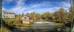 Falls of Rough Pano - Nov 2016 (AP Imagery) Tags: mill urbex historic industrial water grayson fallsofrough rural pano dam historical ky decay greenfarm greenbrothers farm panorama kentucky county roughriver usa