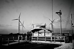 DR1-38-17A (David Swift Photography Thanks for 19 million view) Tags: davidswiftphotography newjersey atlanticcity windfarm windmills windenergy turbines electricgenerators 35mm film leicaminilux ilfordxp2 jerseyatlanticwindfarm