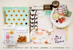 A simply perfect day 52 weeks journal & scrapbook kit (Iara_baersgarten) Tags: minialbum journal scrapbook scrapbookkit baersgartendesigns scrapbooking kits mini album kit