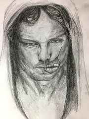 Life happens.. (twiing) Tags: sketch sketching surreal man portrait white person pencil people photo art artist drawing draw design