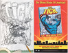 THE TICK 20TH ANNIVERSARY SKETCH BOOK COVER EDITION (vsndesigns) Tags: the tick pencil indie shocker gbjr toys with tie and tshirt zombie in a steel box fox promotional totally kids magazine 45 club spoon taco bell meal commercial eli stone ben edlund little wooden boy comic book merchandise rare limited edition 80s 90s collector museum naked super hero heroine funny comedy tv color thetick indoor surreal cartoon coffee mug ceramic cup black blue text poster illustration collection sketch cover white necpress