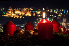 1st Sunday of Advent (boettcher.photography) Tags: advent 1advent firstsundayofadvent sonntag sunday adventssonntag weihnachtszeit kerzen adventskranz candles adventwreath heidelberg germany deutschland badenwürttemberg schloss castle schlossheidelberg heidelbergcastle stadt city sashahasha november 2016 night nacht boettcherphotography