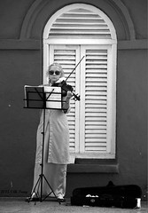 Busker in Malacca (lh tanG) Tags: people blackandwhite blackwhite performer malacca