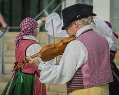 A Swedish folk fiddler (frankmh) Tags: skne sweden outdoor swedish streetperformer fiddler scania helsingborg swede folkdancing europeade2015