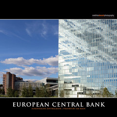 EUROPEAN CENTRAL BANK (Matthias Besant) Tags: new bridge blue sky glass architecture clouds skyscraper deutschland construction europa europe hessen skyscrapers martin euro frankfurt steel himmel wolken bank architect architektur coop blau brcke constructionsite alsatian bau currency glas ostend neu skyblue hochhaus hesse denkmal stahl markthalle wolkenkratzer architekt markethall himmelblau ezb krne federalreserve wholesalemarket coophimmelblau osthafen grossmarkthalle europischezentralbank zentralbank deuschland denkmalschutz whrung grossmarkt honsellbrcke elssser nutzung martinelssser europeancentralbankecb wholesalemarkethall osthafenbrcke matthiasbesant newusage whrungshter neuenutzung ostendstars currencyguardian usagelistedbuilding