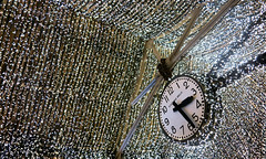 Illusion (Kristin&Joe) Tags: nyc newyorkcity clock festive lights chelsea time manhattan watch ceiling lowermanhattan highline chelseamarket ticktock photoshow electriquebrillie