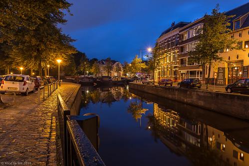 Groninger Noorderhaven at blue hour
