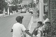 some new stories (flexounip) Tags: blackandwhite monochrome bike bicycle kids grandfather strret bysicle