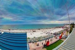 Brighton Sunset (Stuart Templeton) Tags: sunset beach club brighton time yacht south australia stack seacliff sa