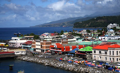 Dominica seen from a ship