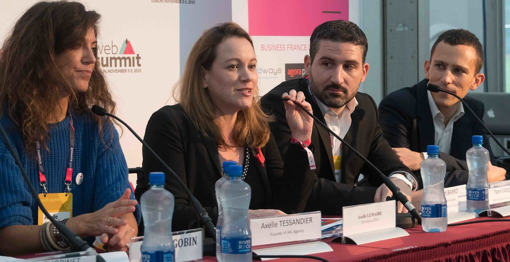 TODAY AT THE WEB SUMMIT THERE WAS A PRESS CONFERENCE HOSTED BY AXELLE LEMAIRE [FRENCH MINISTER RESPONSIBLE FOR DIGITAL AFFAIRS]-109927