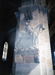 Bamberg, Dómlovas (Szent István?) (ossian71) Tags: németország germany deutschland bamberg bayern bajorország templom church műemlék sightseeing szobor statue