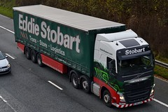 Stobart H4274 KN15 UZB Lexie Belle M6 Penrith 14/11/15 (CraigPatrick24) Tags: road truck volvo cab transport lorry delivery vehicle trailer m6 logistics penrith stobart eddiestobart curtainsider volvofh stobartgroup stobartcurtainsider lexiebelle kn15uzb h4274 m6penrith