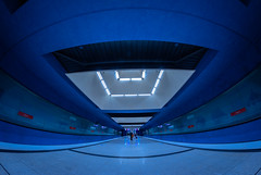 Inside Blue Mountain (*Capture the Moment*) Tags: blue people architecture subway munich leute dynamic innenarchitektur ubahn architektur blau interiordesign dynamik 2015 gern häuserwohnungen farbdominanz insightview