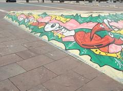 146 (en-ri) Tags: muro verde wall writing torino graffiti eyes rosa occhi giallo came peperoncini gbl