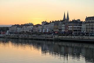Front de Saône au coucher de soleil