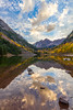 Maroon Bells Before Sunset (USpecks_Photography) Tags: autumn mountains reflection fall clouds landscape colorado peace seasons fallcolors calm serenity rockymountains aspen mountainlake contemplation maroonbells afternoonlight maroonlake ultrawideangle ostrellina