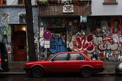 Berlin: November '2015 (Jerme Sweelssen) Tags: portrait people urban bw panorama white black berlin museum night kreuzberg 50mm gallery angle bokeh side wide s east u heroine f22 portret bahn depth symetric neues 18mm 10mm