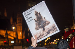 Don't Bomb Syria - Parliament protest 2 Dec 2015 (The Weekly Bull) Tags: london westminster war protest parliament demonstration antiwar syria isis stopthewarcoalition davidcameron stwc