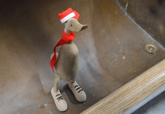 Little festive duck (Tony Worrall) Tags: county christmas wood xmas uk decorations england silly kids festive fun stream tour open place country seasonal north decoration visit things location made area buy items sell northern update decorate quirky attraction wodden welovethenorth 2015tonyworrall