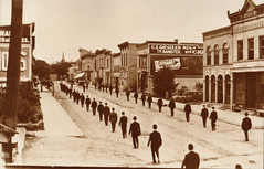 Dewitt Funeral Procession, Men in Bowler Hats
