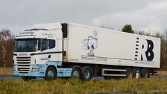 PK11 BFE (panmanstan) Tags: road england truck wagon motorway yorkshire transport lorry commercial newport vehicle freight scania m62 haulage hgv r440