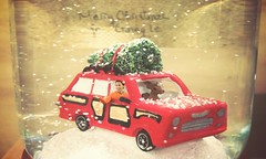 Merry Christmas to you all... ( Ginny Le ) Tags: christmas winter snow tree car globe deer ginny ginnyle
