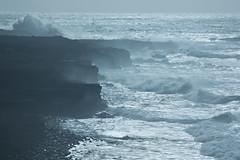 Sea, Strong Wind and Coastal Erosion (onurbwa51) Tags: sea island iceland meer waves coastline küste wellen waterpower gischt starkwind strongwinds saespray