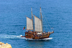 Santa Bernarda pirate ship 201 (_Rjc9666_) Tags: boat coastline nikkor55200mm nikond5100 portugal sailing santabernarda sea seascape ship ruijorge9666 carvoeiro faro pt explorer 1552 201