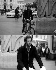 [La Mia Citt][Pedala] con il BikeMi (Urca) Tags: 8917 milano italia 2016 bicicletta pedalare ciclicsta ritrattostradale portrait bike bicyclenikondigitale mir biancoenero bn bw blackandwhite bikemi bikesharing